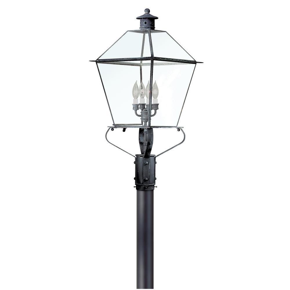 Troy Lighting Montgomery 4-Light Outdoor Charred Iron Post Light-P8961CI - The