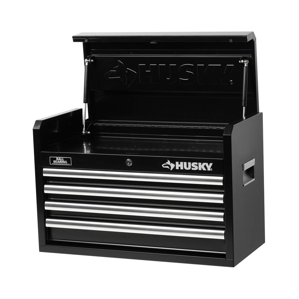 26 in. W 4-Drawer Tool Chest, Black
