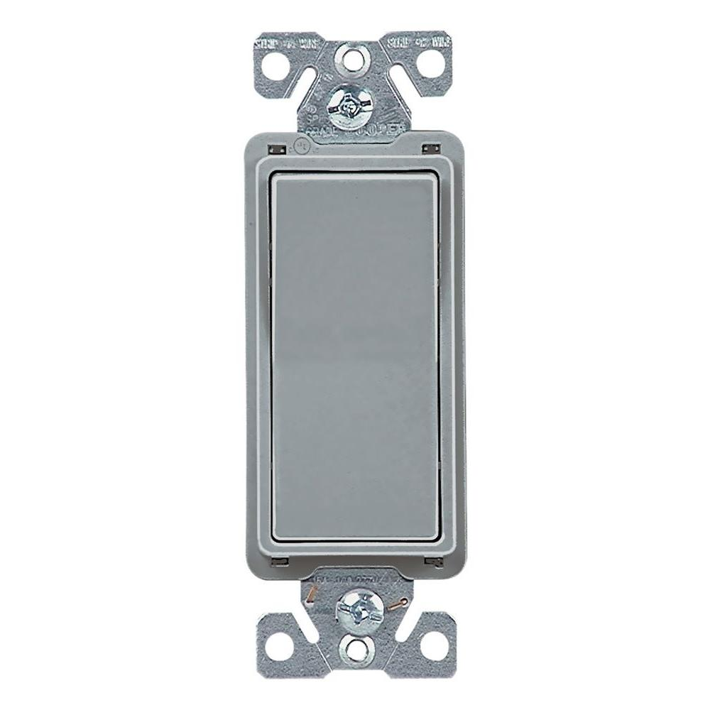 Eaton 15 Amp 4-Way Rocker Decorator Switch, Gray-7504GY-BOX - The Home