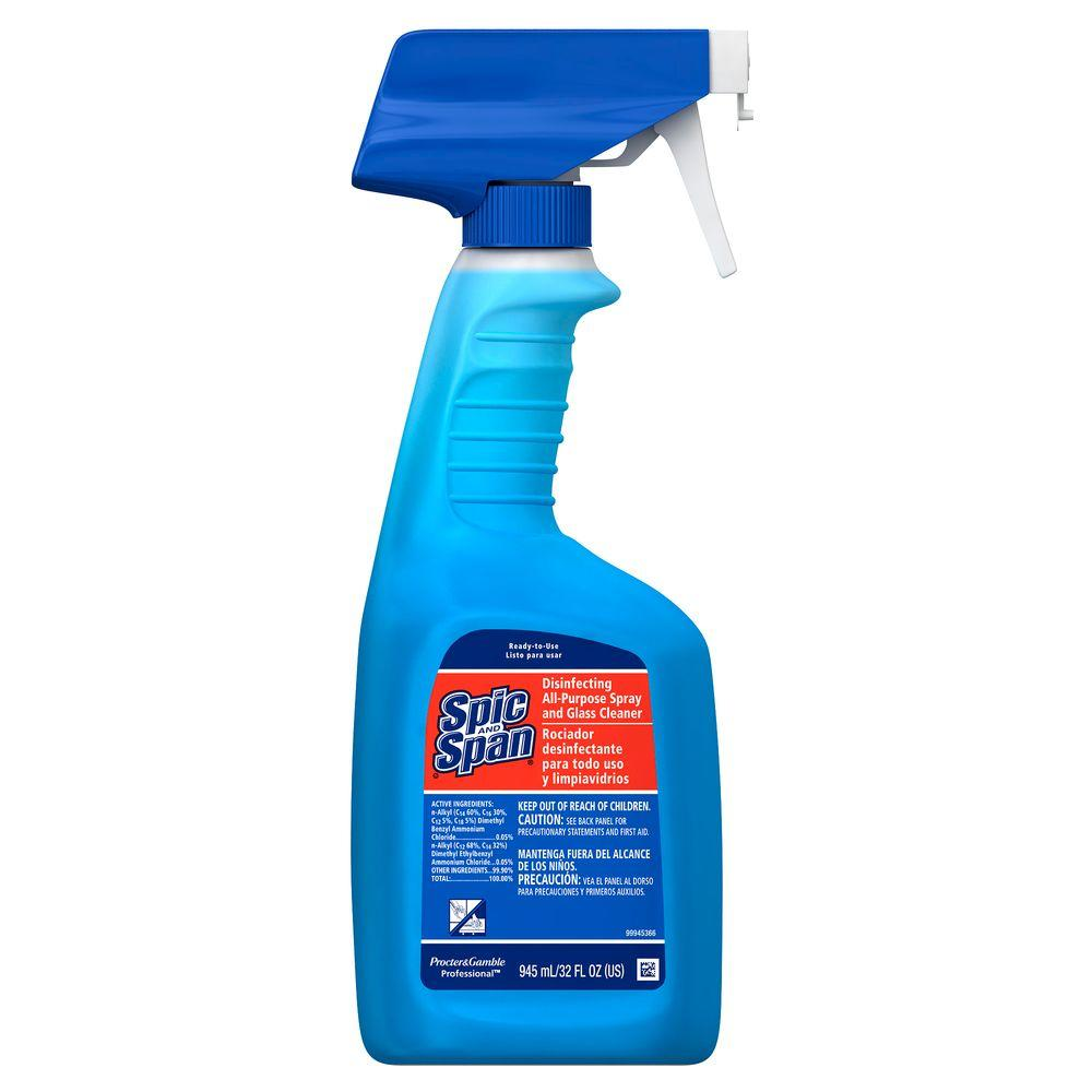 Spic and Span 32 oz. Disinfecting All Purpose and Glass Cleaner (Case of 8)-DISCONTINUED