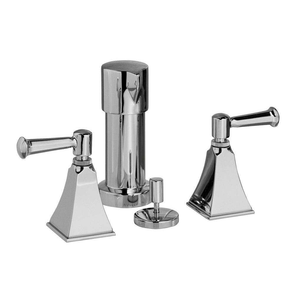 KOHLER Memoirs 2-Handle Bidet Faucet in Polished Chrome with Stately Design