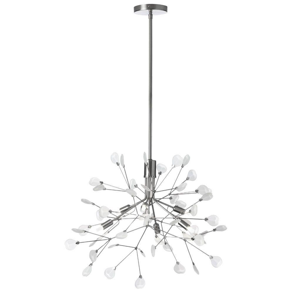 Radionic Hi Tech Pixley 6-Light 23 in. Satin Chrome Chandelier