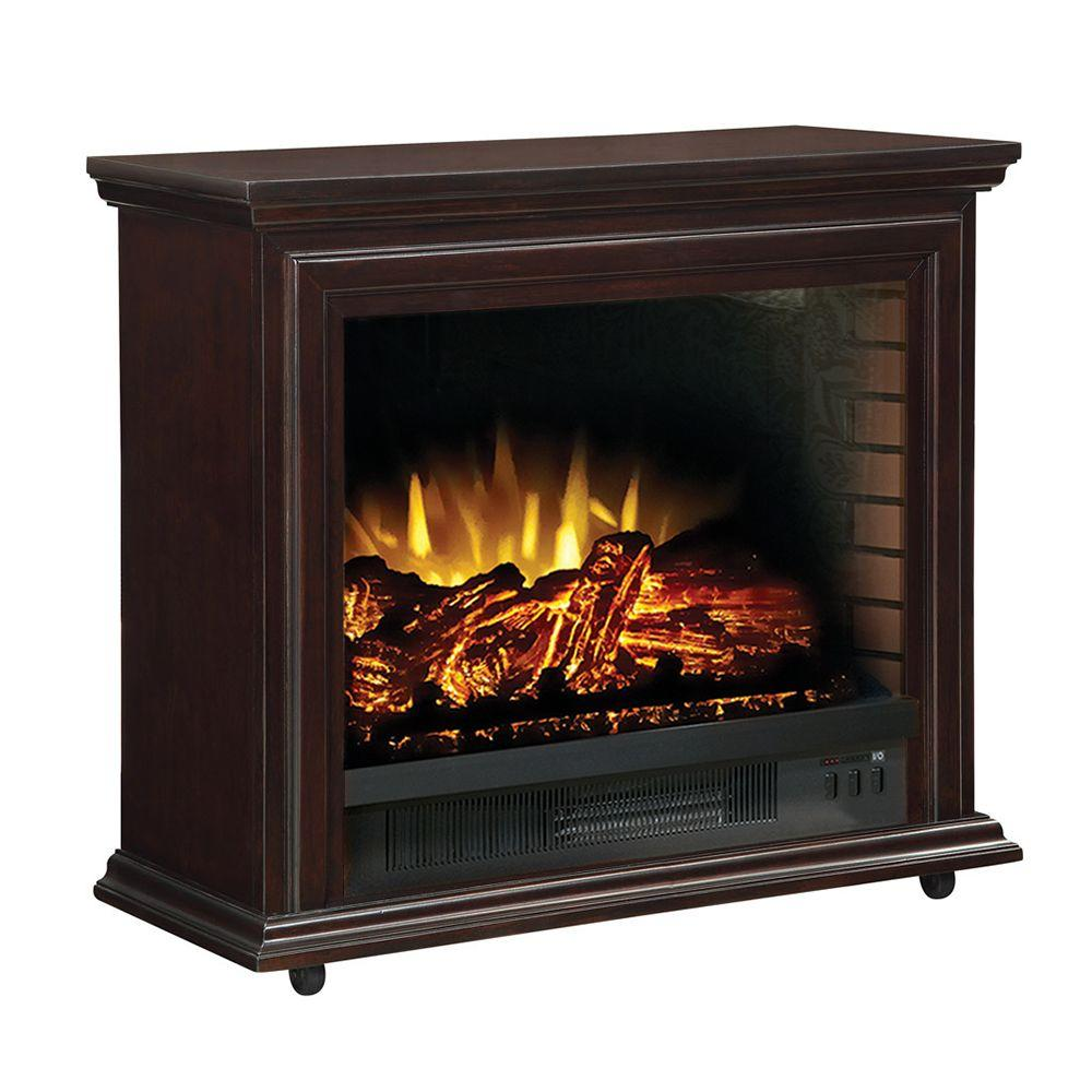 Hampton Bay Derry 32 in. Electric Fireplace in Espresso-DISCONTINUED