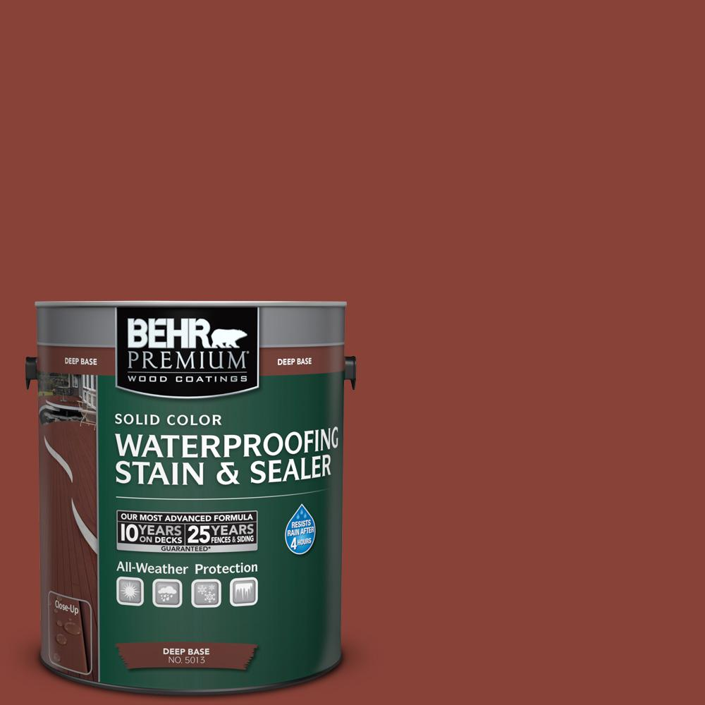 1 gal. #PPF-30 Deep Terra Cotta Solid Waterproofing Stain and Sealer