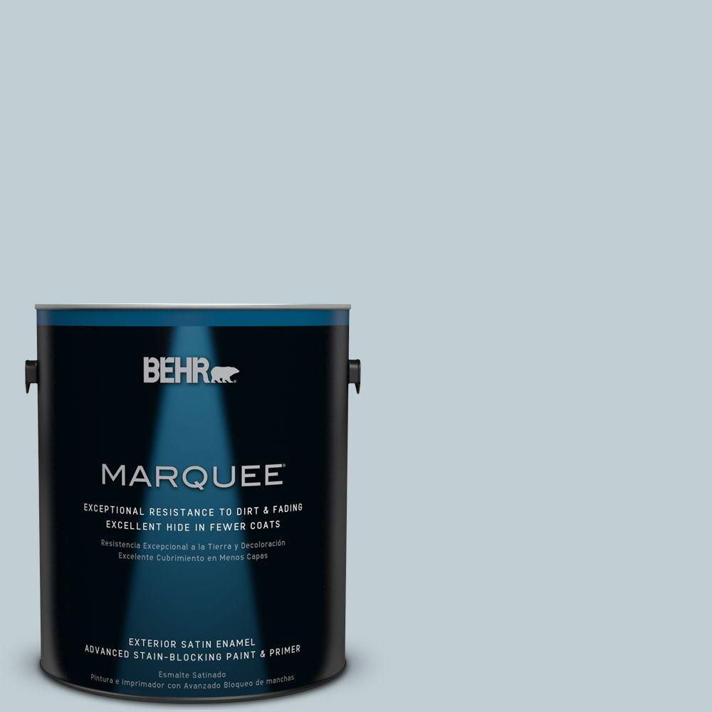 BEHR MARQUEE 1 gal. #MQ3-58 Alice White Satin Enamel Exterior Paint-945001