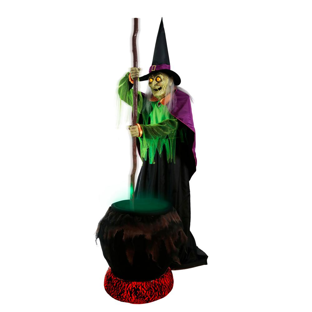 Home Accents Holiday 80 in. Gertie Cauldron Witch-5124417 ...