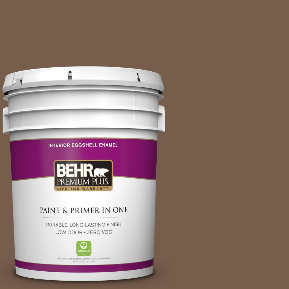 5 gal. #250F-7 Melted Chocolate Zero VOC Eggshell Enamel Interior Paint