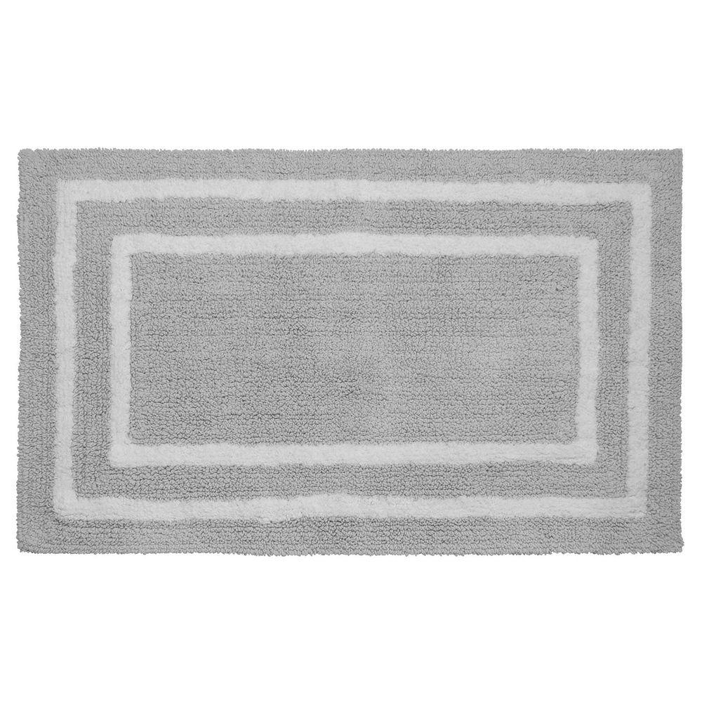 Reversible Cotton Soft Double Border Gray 21 in. x 34 in.