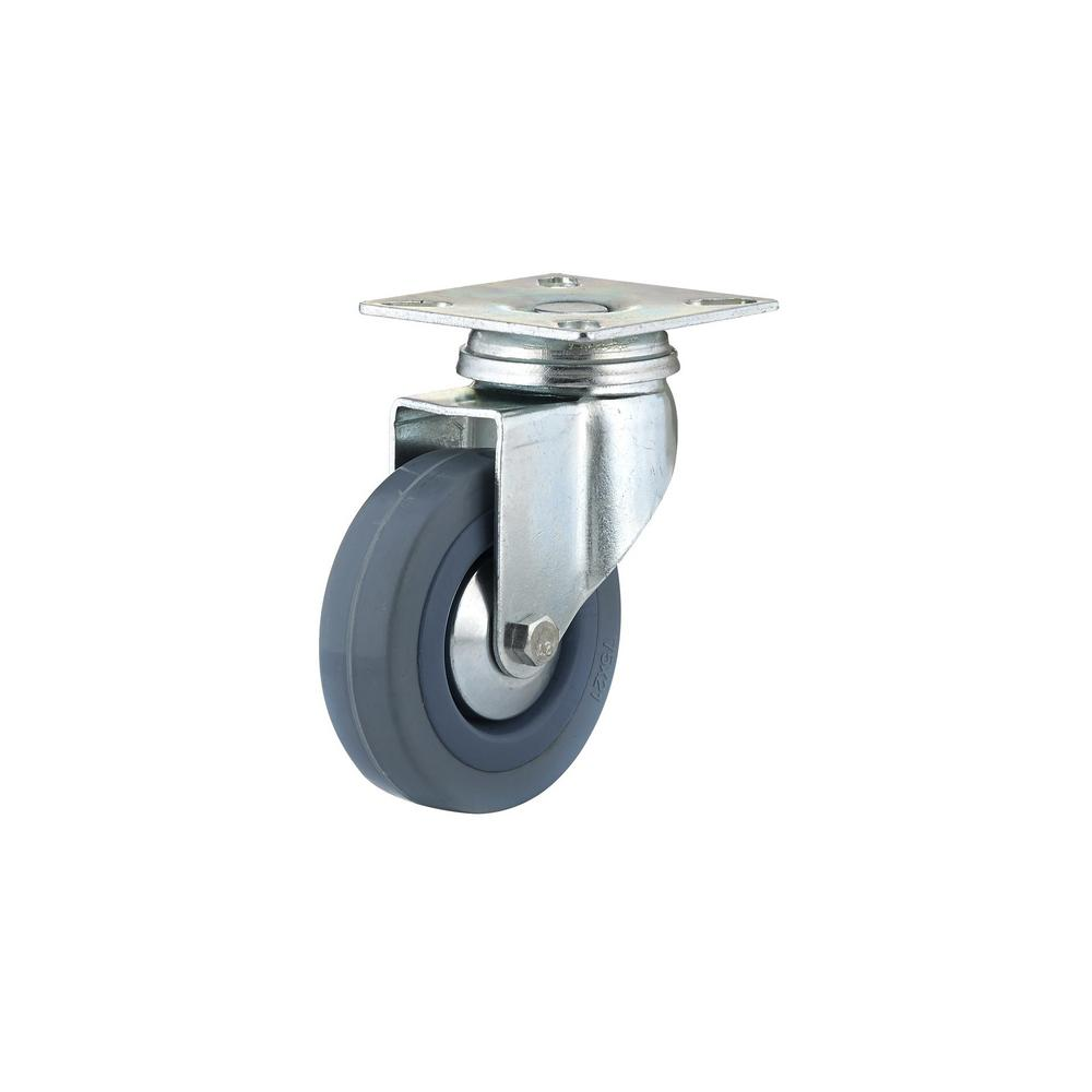 2-15/16 in. Gray Swivel Without Brake plate Caster, 132.3 lb. Load