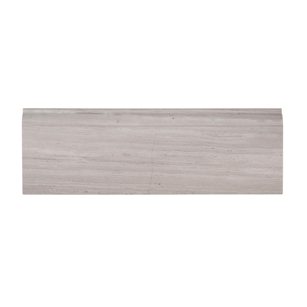 Jeff Lewis 4 in. x 12 in. Honed Limestone Base Trim, Gray