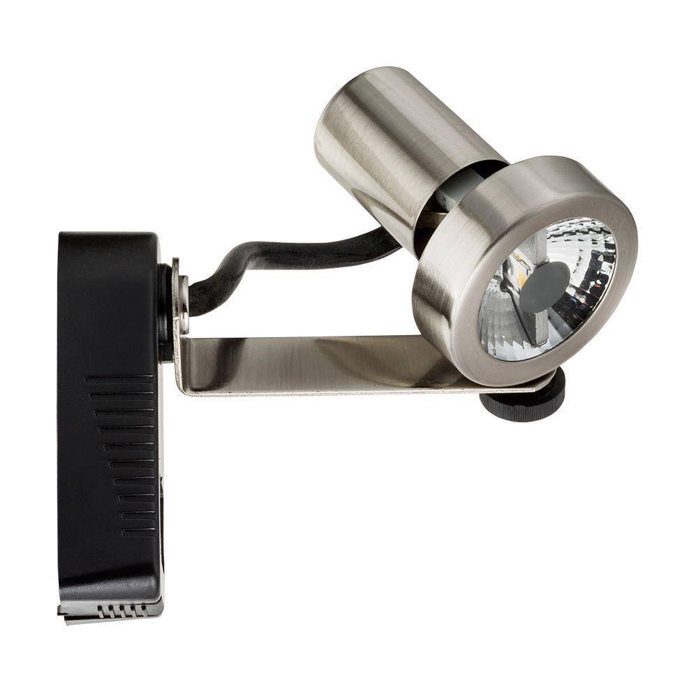Lithonia Lighting 1-Light Brushed Nickel Rear Loading Gimbal Commercial Track