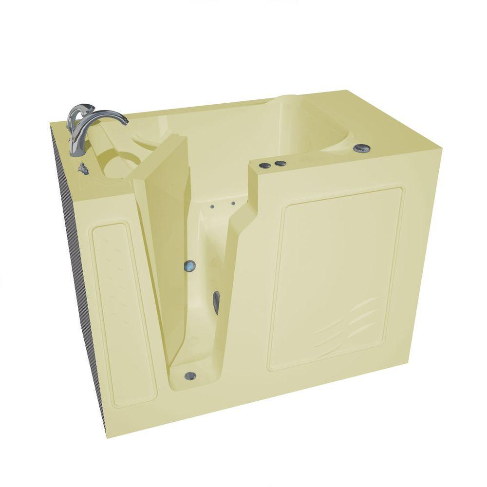 Universal Tubs 4.4 ft. Left Drain Walk-In Air Bath Tub in Biscuit