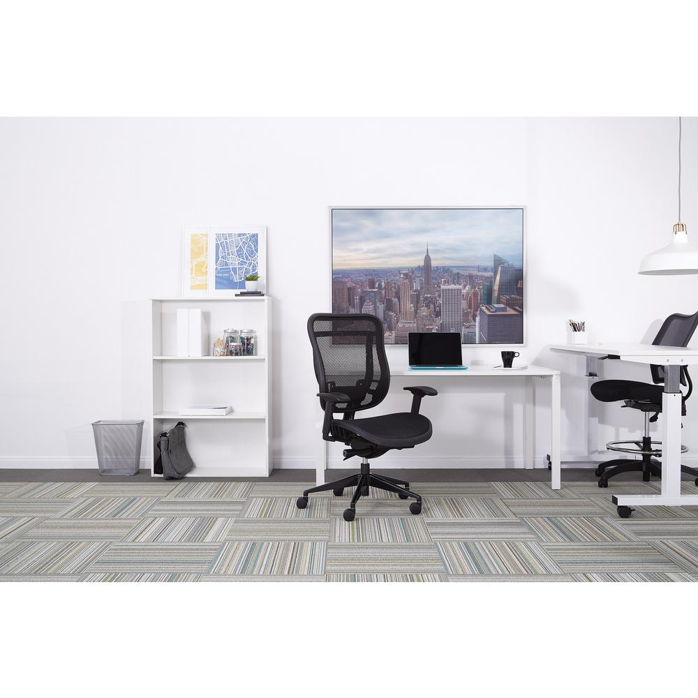 Space Seating 818 Series Black High Back Executive Office Chair