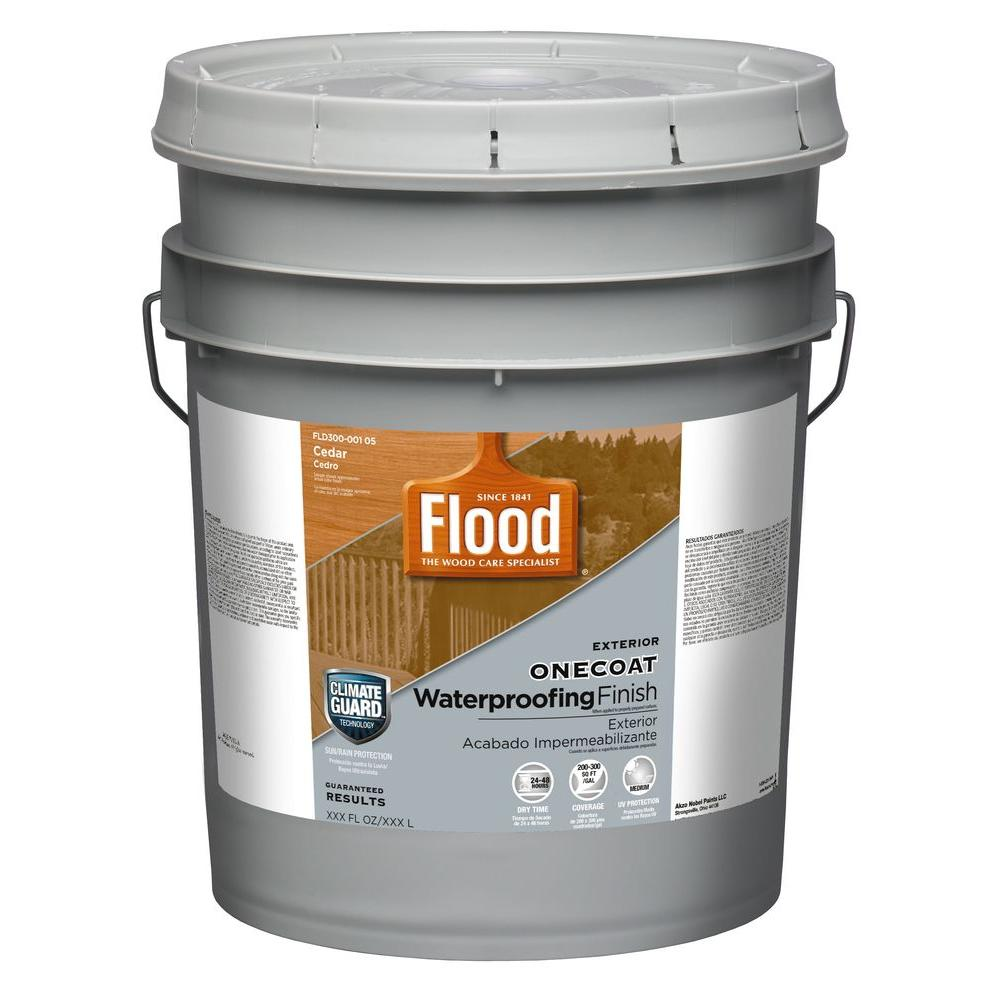 Flood 5 Gal Cedar One Coat Protection Translucent Stain Fld300 001 05 The Home Depot