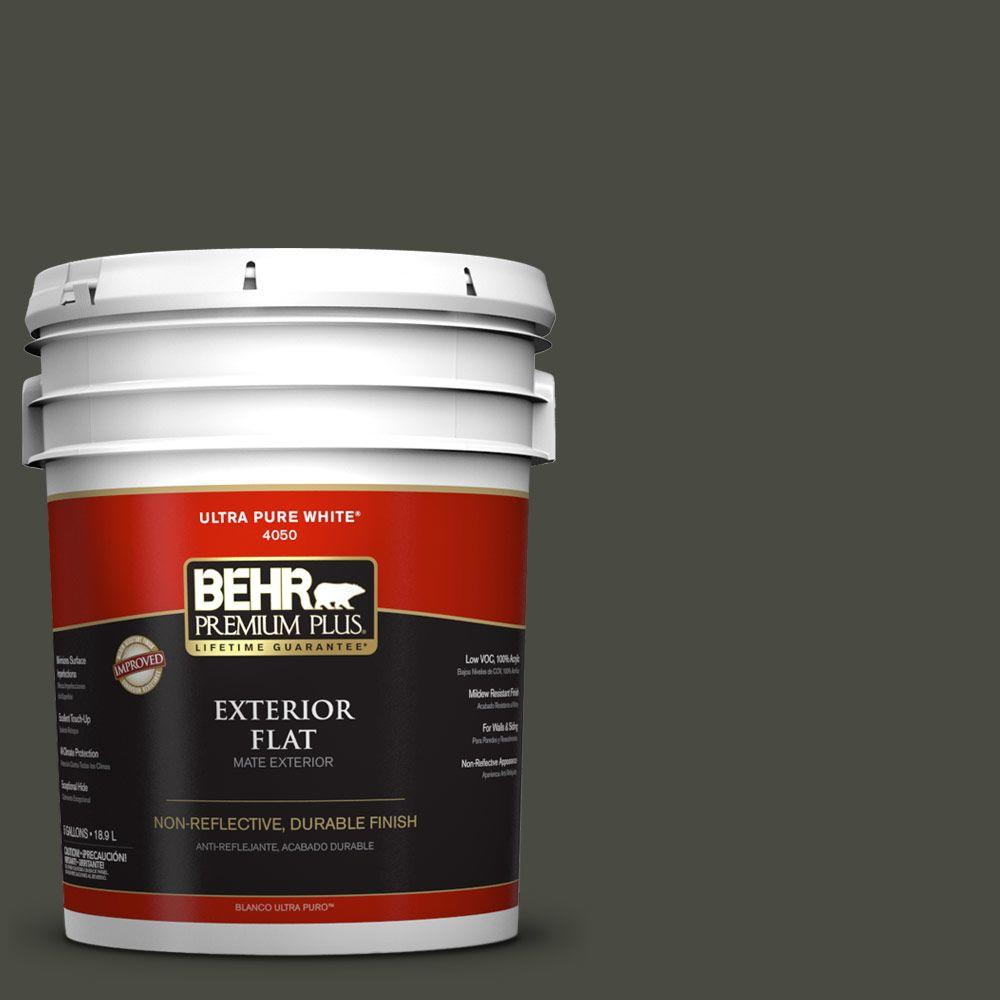 BEHR Premium Plus 5-gal. #ECC-47-3 Twilight Forest Flat Exterior Paint-430005 -