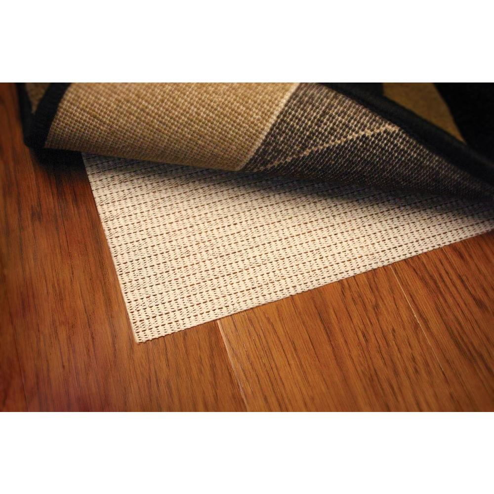 Non Slip Hard Surface Beige 9 ft. 6 in. x 13