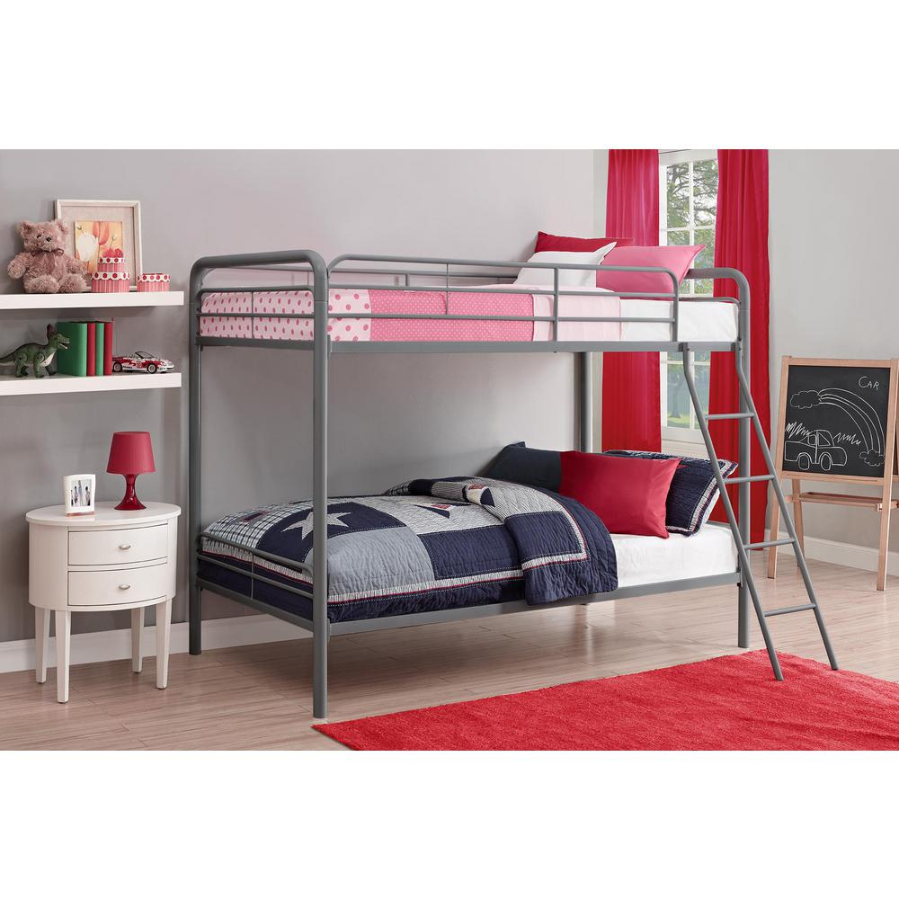 Customer Reviews. DHP Twin Over Twin Metal Bunk Bed 3135096   The Home Depot