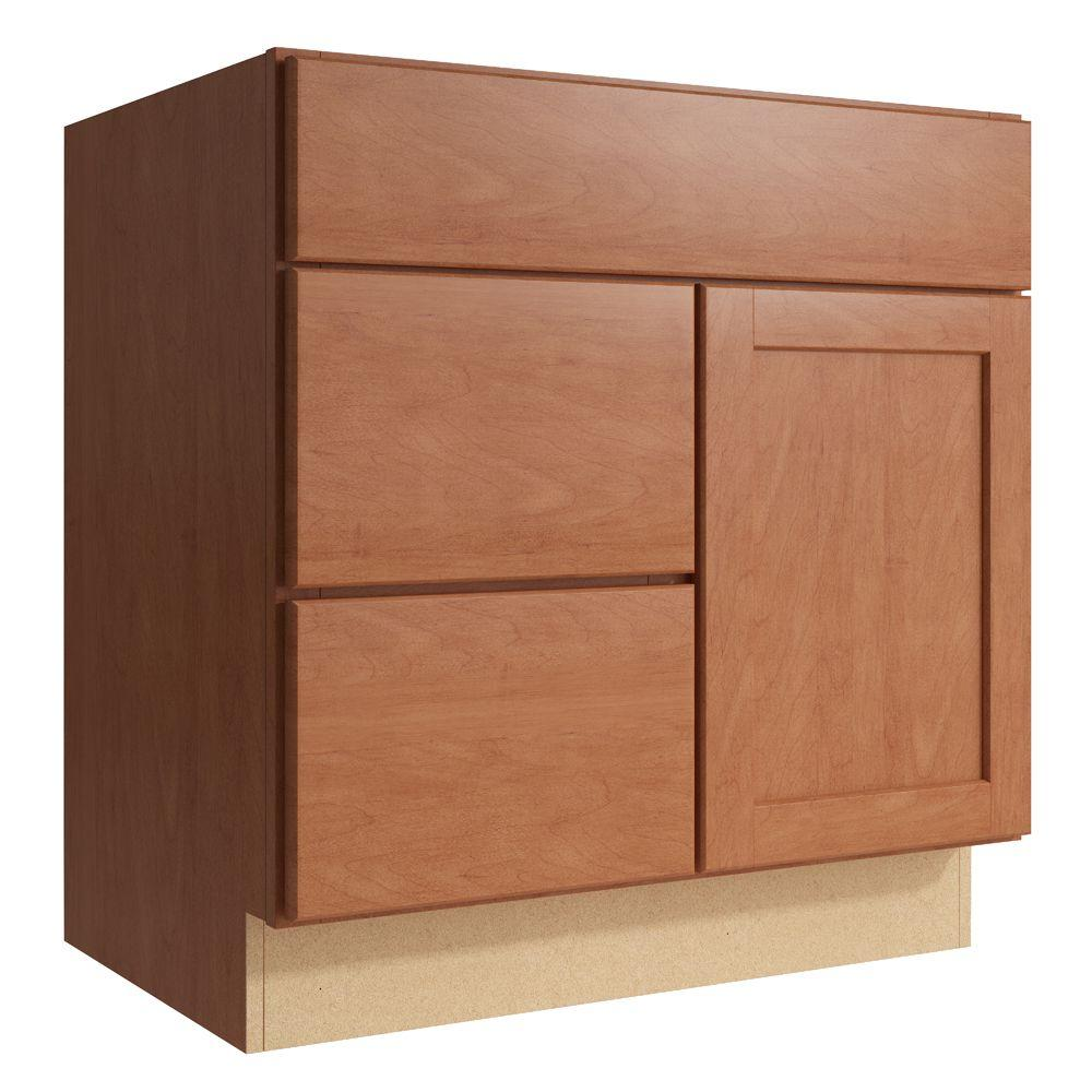 Cardell Cabinets Pallini 30 in. W x 31 in. H Vanity Cabinet Only in Caramel VCD302131DL2.AE0M7.C68M