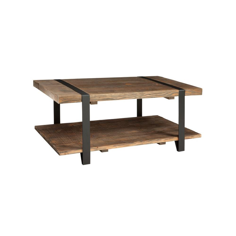 Alaterre furniture modesto rustic natural storage coffee table amsa1120 the home depot Coffee tables rustic