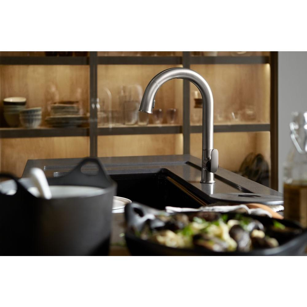 Most Reliable Kitchen Faucets Kohler Sensate Ac Powered Touchless Single Handle Pull Down