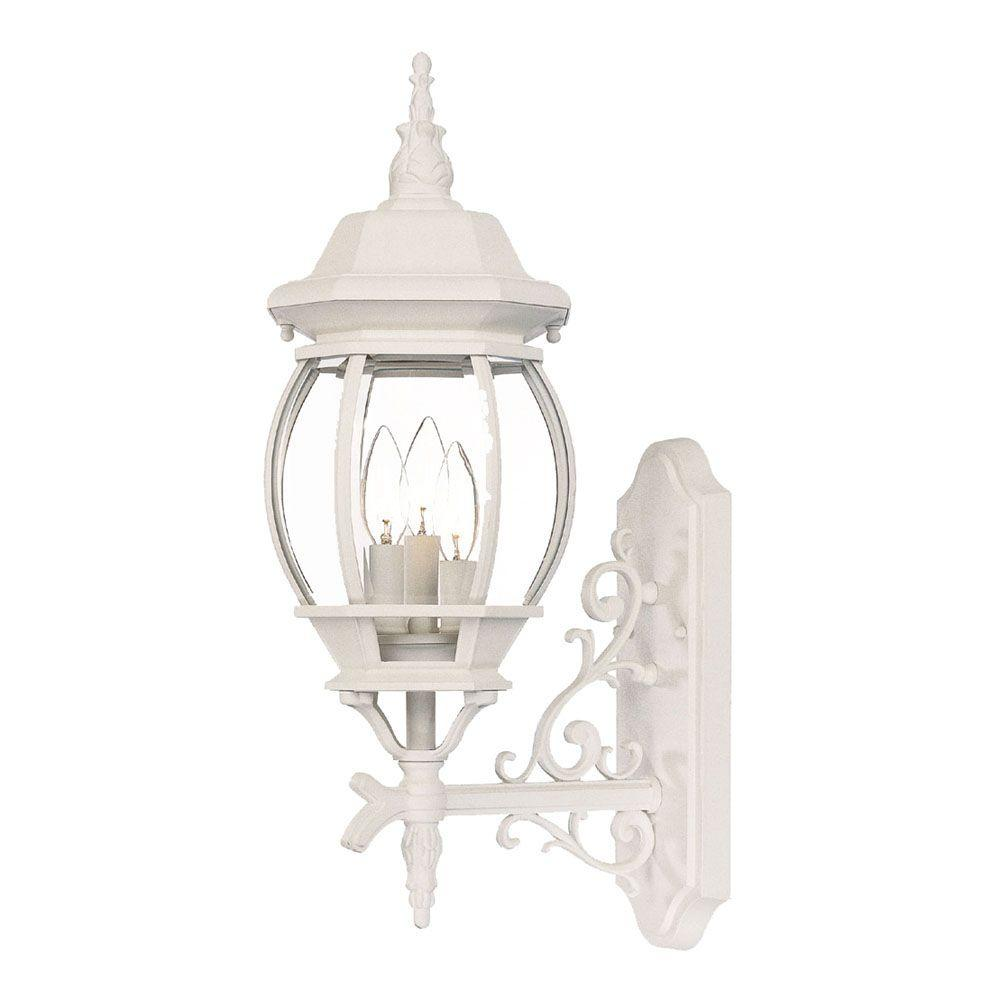 Acclaim Lighting Chateau Collection Wall-Mount 3-Light Outdoor Textured White Light Fixture