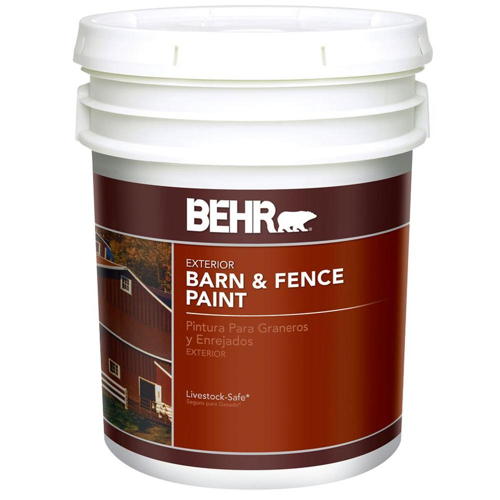 behr 5 gal red exterior barn and fence paint 2505 the