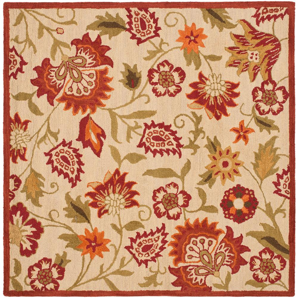 Blossom Beige/Multi 8 ft. x 8 ft. Square Area Rug