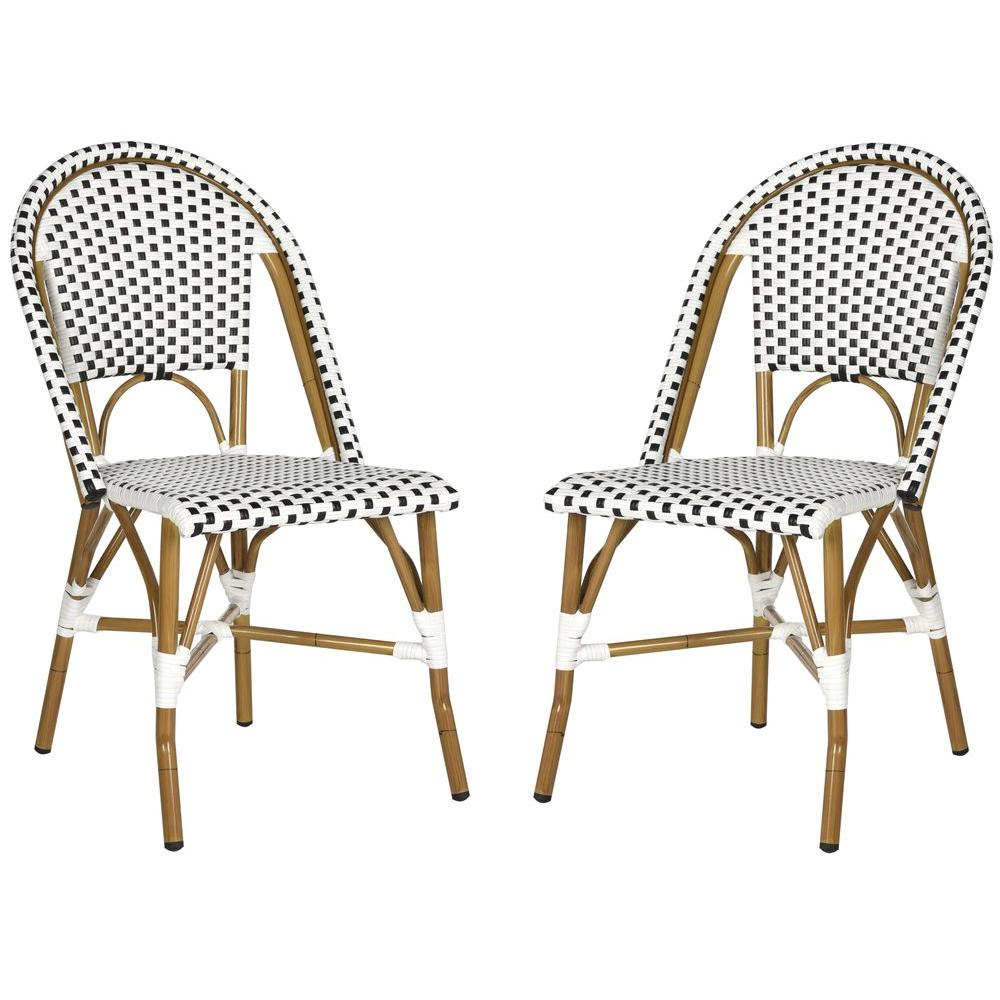 Salcha Black Patio Dining Chair (2-Pack)