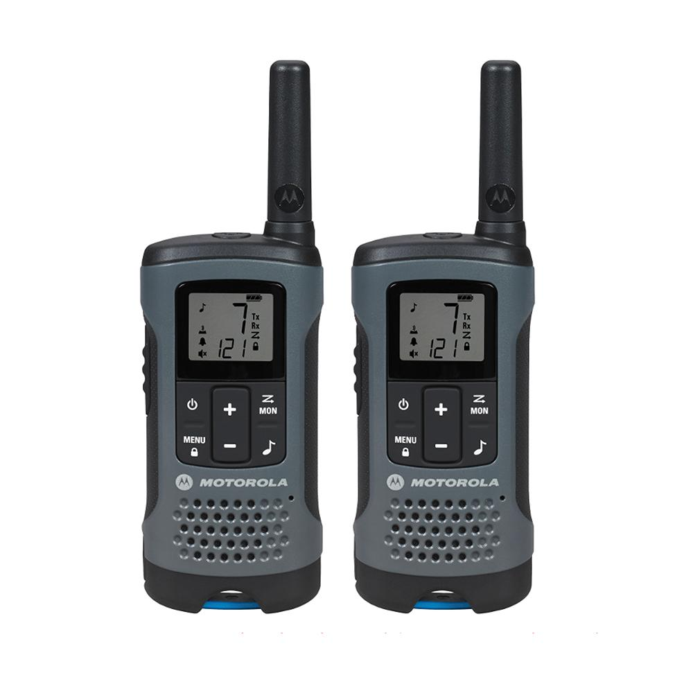 Talkabout T200 Rechargeable 2-Way Radio, Gray (2-Pack)