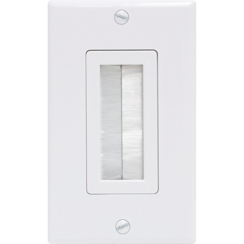 GE Ultra Pro 1 Brush White Wall Plate
