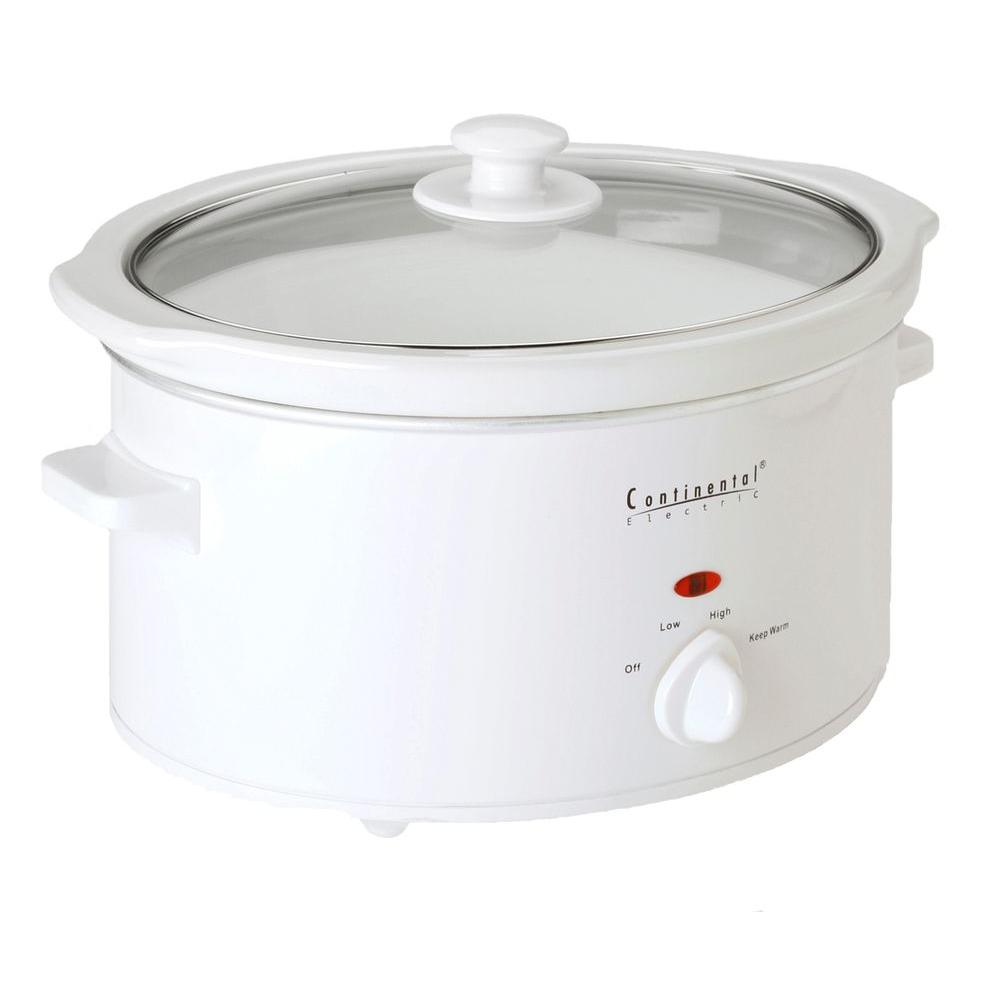 Continental Electric 4 qt. Oval Slow Cooker-DISCONTINUED