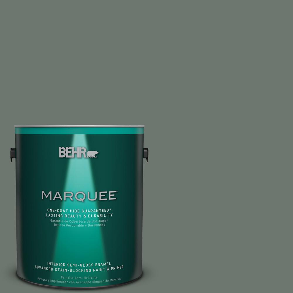 1 gal. #T17-13 In the Woods Semi-Gloss Enamel Interior Paint
