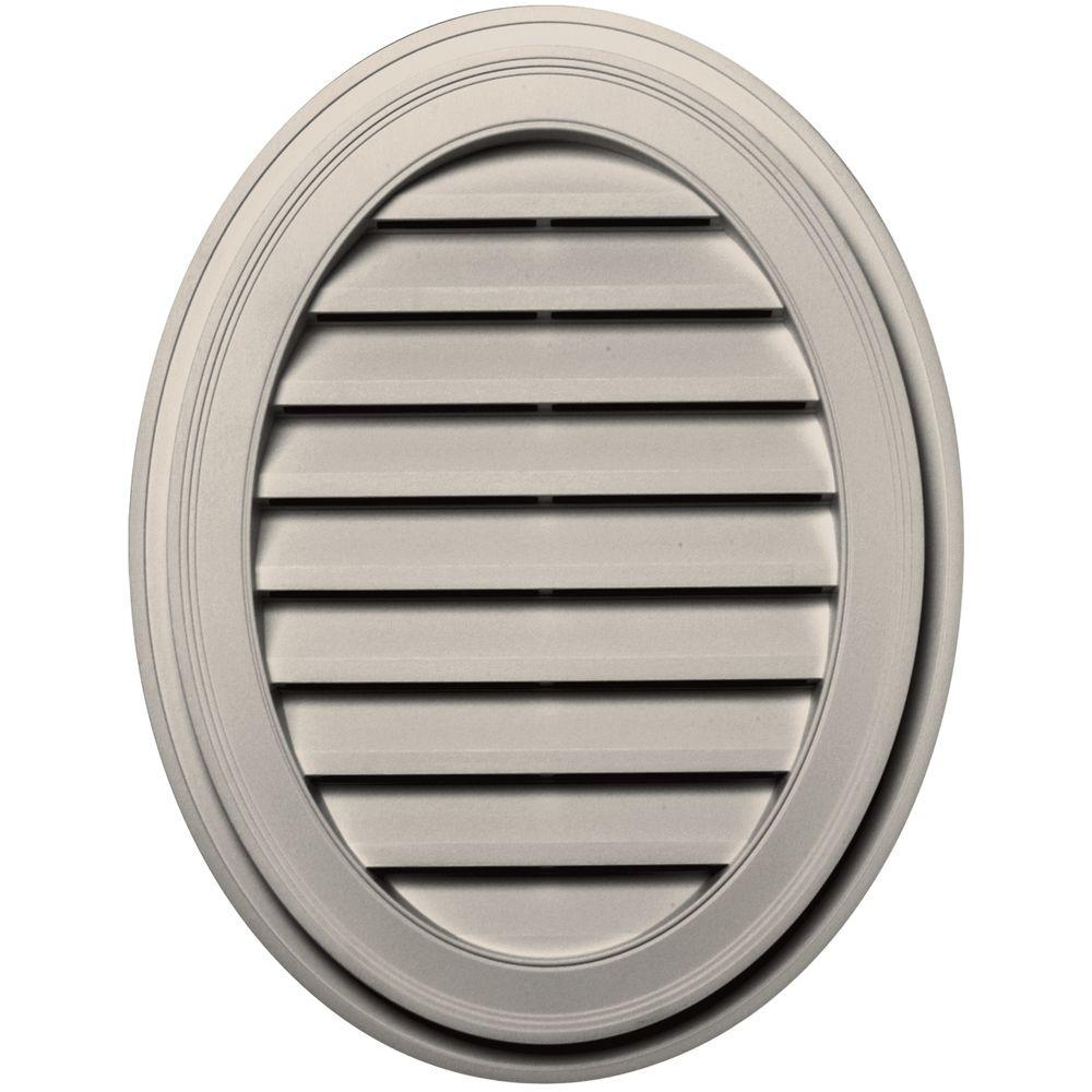 Builders Edge 27 in. Oval Gable Vent in Almond