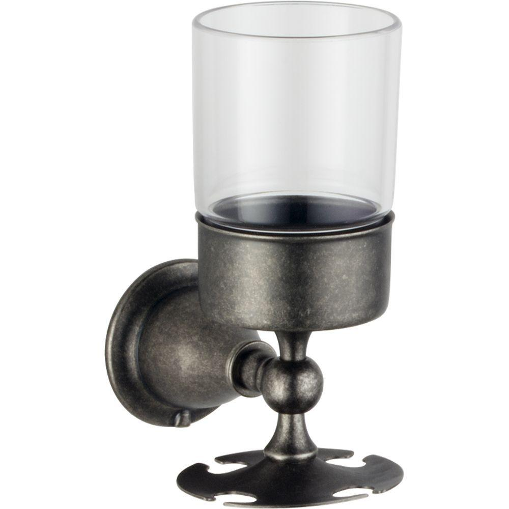 Delta Lockwood Wall-Mounted Toothbrush/Tumbler Holder in Aged Pewter-DISCONTINUED