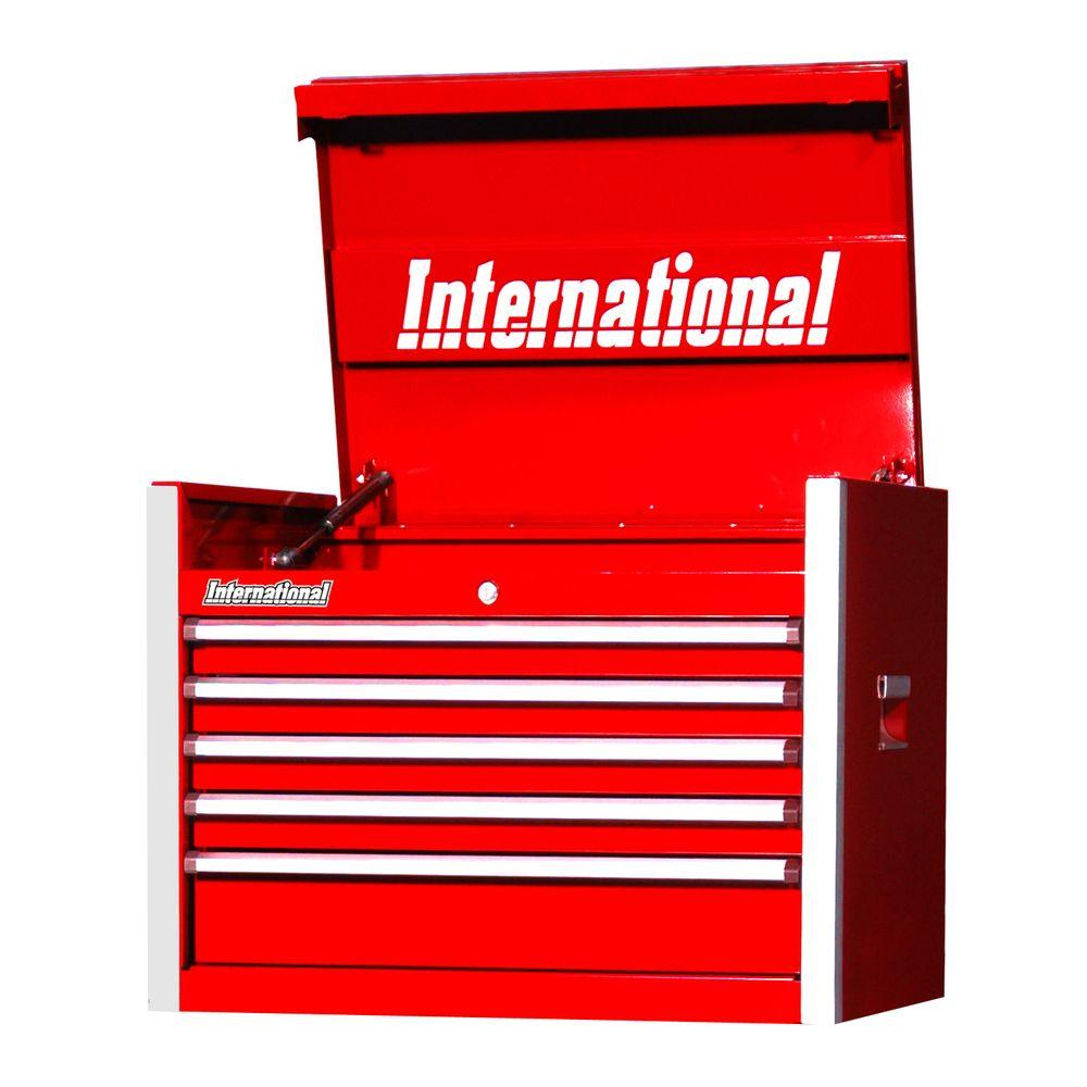 International Pro Series 27 in. 5-Drawer Top Chest, Red