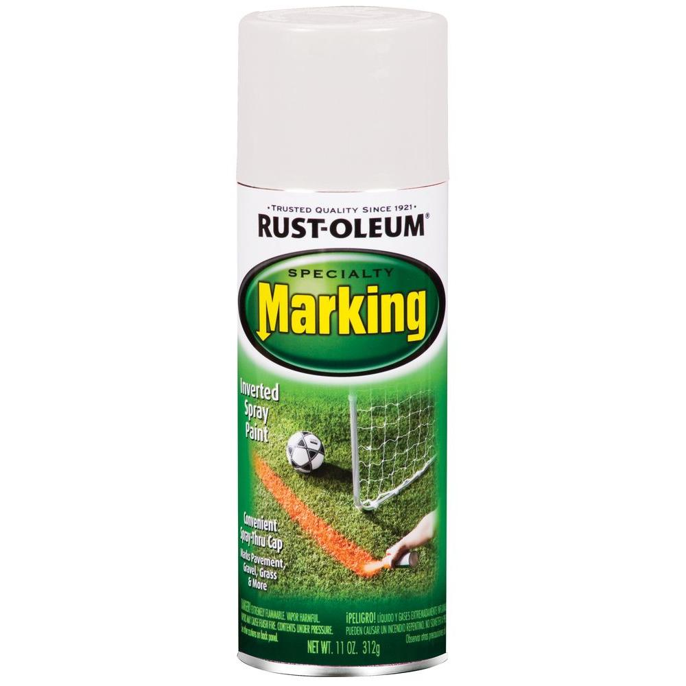 11 oz. White Marking Spray Paint (6-Pack)