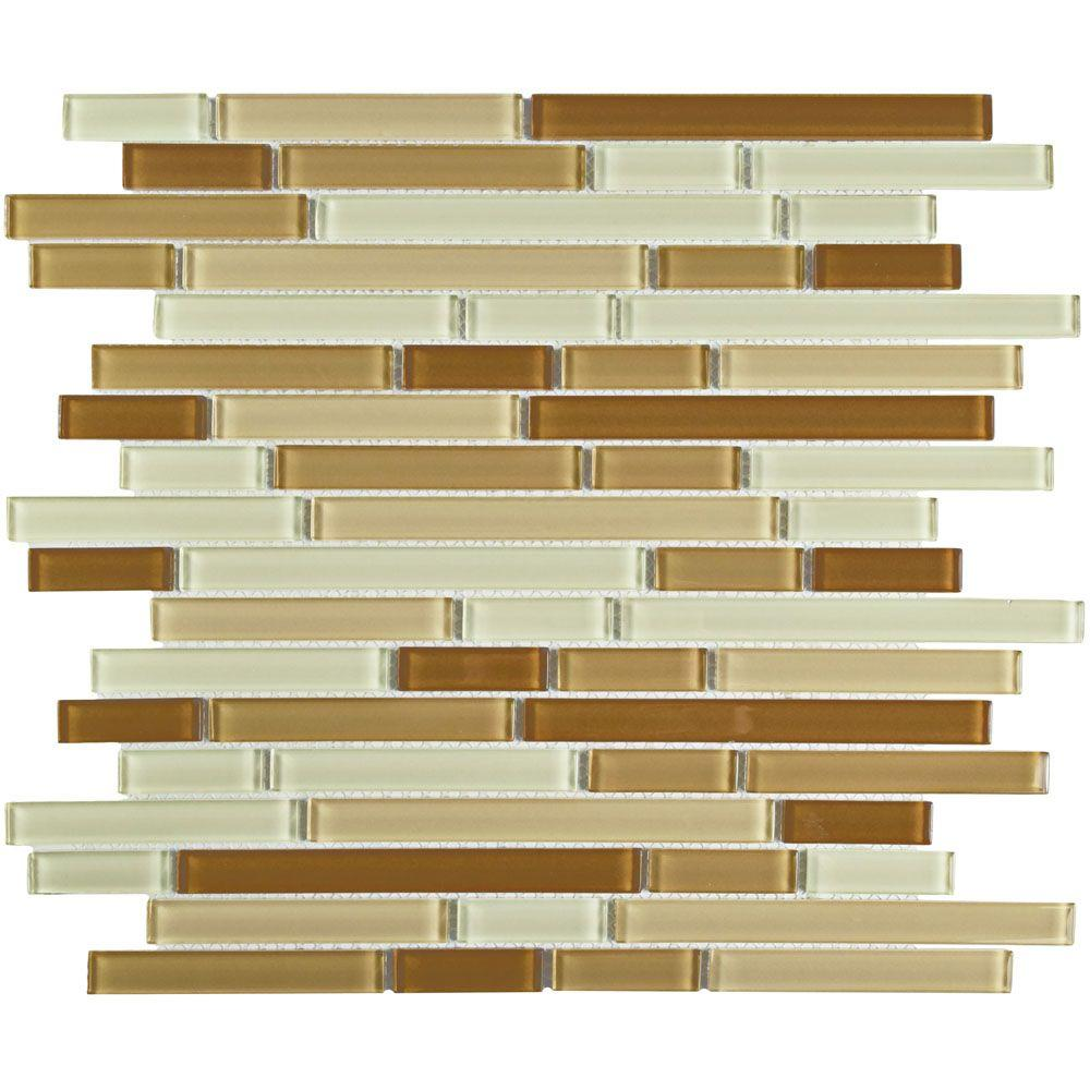 Merola Tile Spectrum Piano Dakar 11-3/4 in. x 11-3/4 in. x 4 mm Glass Mosaic Tile