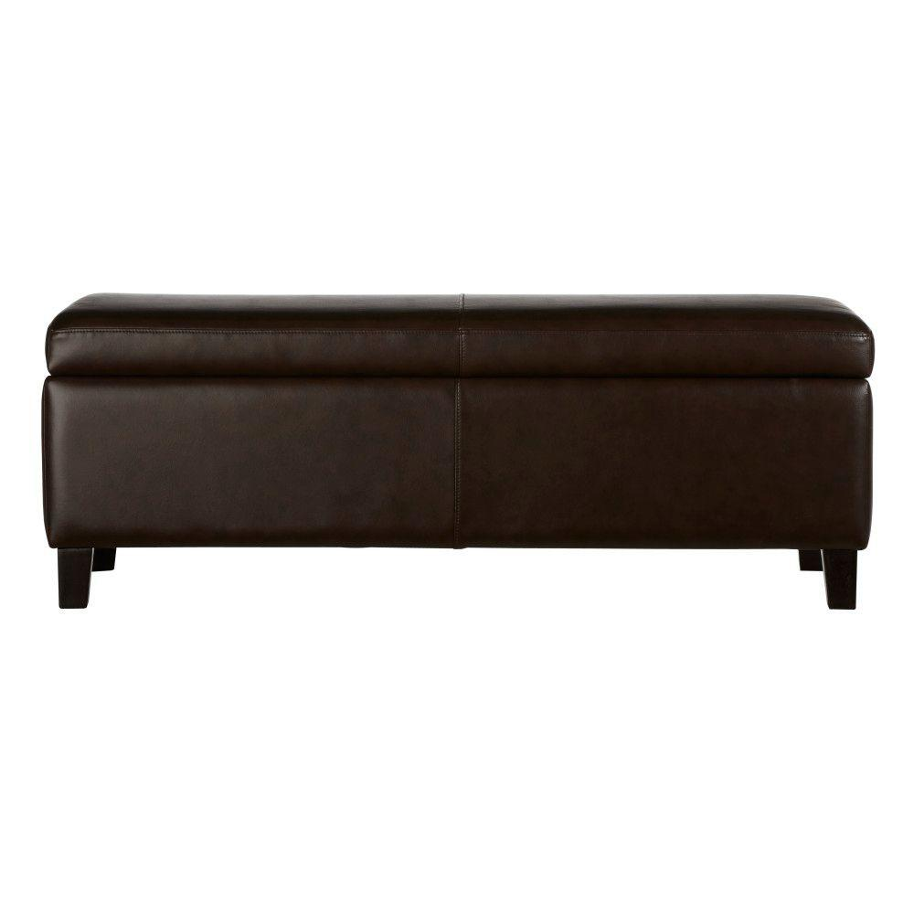 47.2 in. W Venice Brown Storage Bench