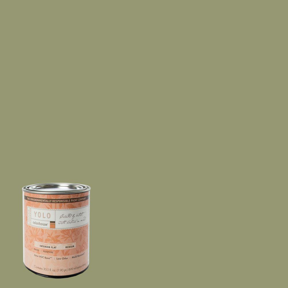 YOLO Colorhouse 1-Qt. Glass .04 Flat Interior Paint-DISCONTINUED