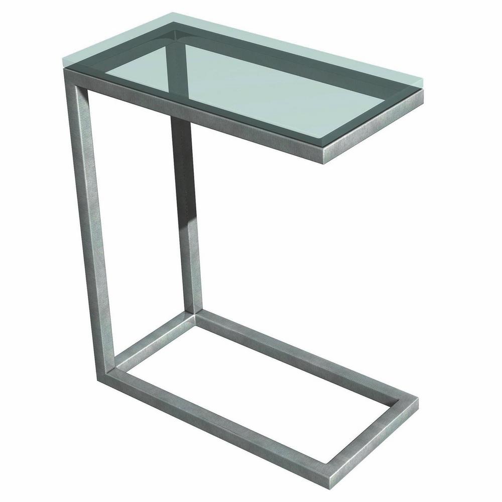 Soho Silver Glass Top End Table