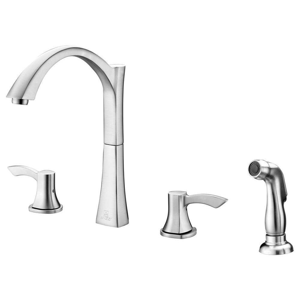 Soave Series 2-Handle Standard Kitchen Faucet in Brushed Nickel