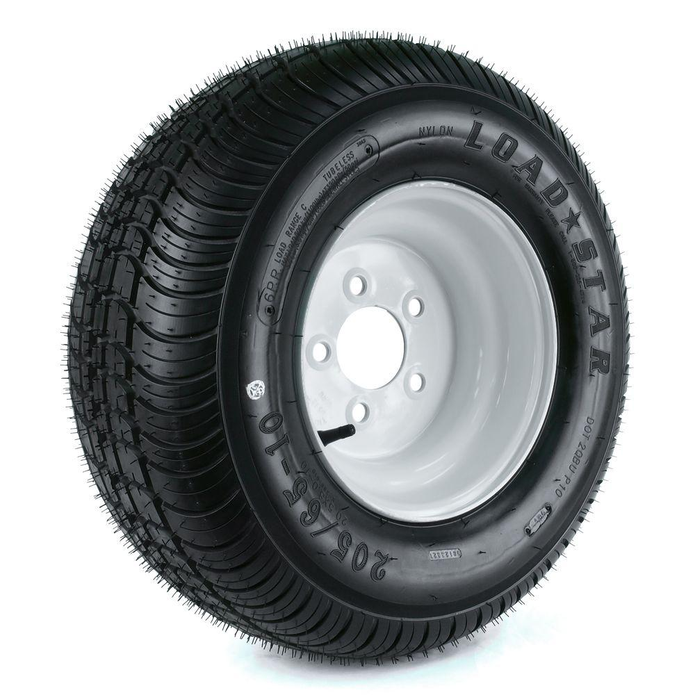 Martin Wheel 205/65-10 20.5x850-10 Load Range C 5-Hole Trailer Tire and