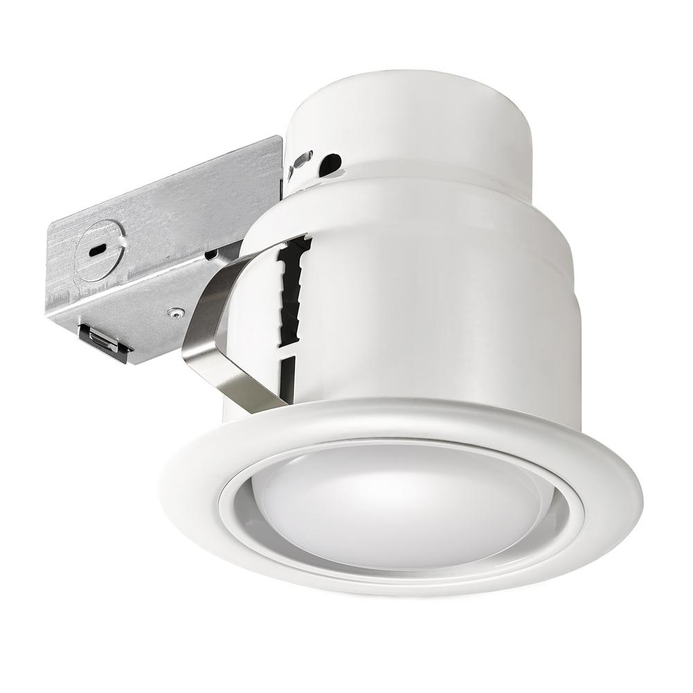 LED Glare Control 5 in. White Recessed Kit