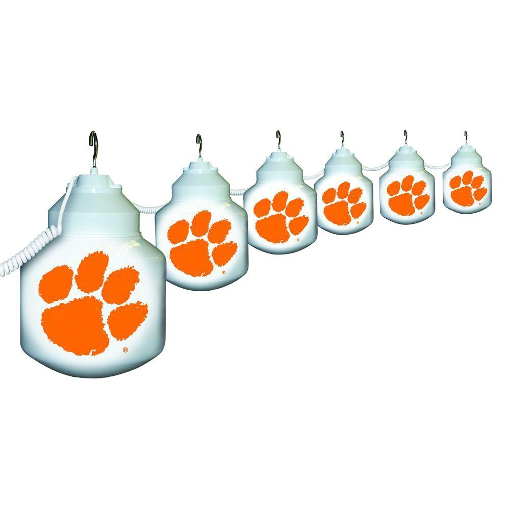Polymer Products 6-Light Outdoor Clemson University String Light Set