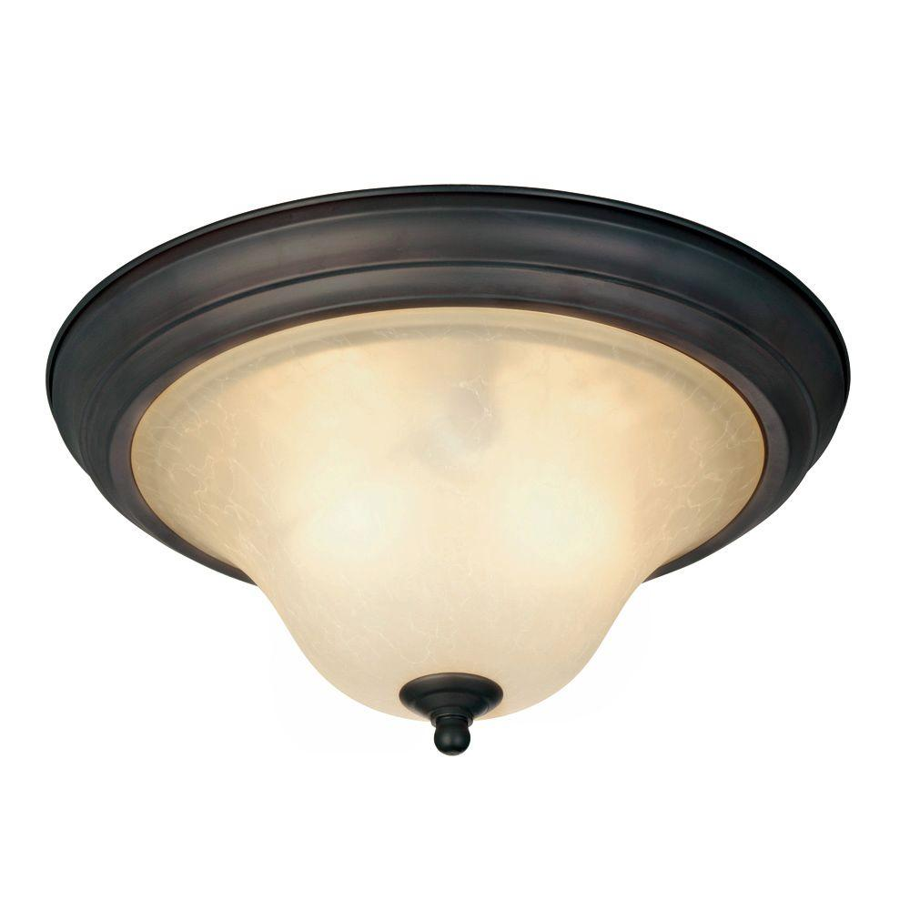 Trinity II 2-Light Oil Rubbed Bronze Ceiling Fixture