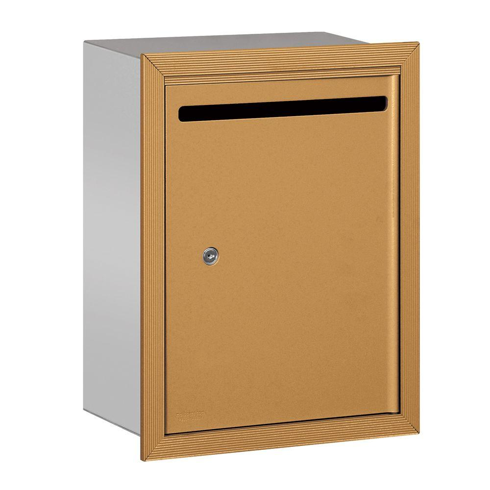 2240 Series Brass Standard Recessed-Mounted Private Letter Box with Commercial