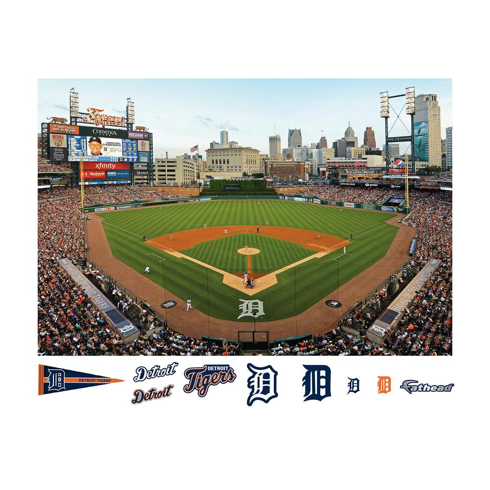 Fathead 48 in h x 72 in w lebron james throwback slam for Comerica park wall mural