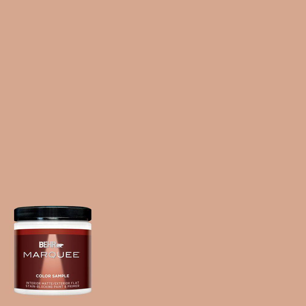 BEHR MARQUEE 8 oz. #MQ1-30 Peachy Confection Interior/Exterior Paint Sample