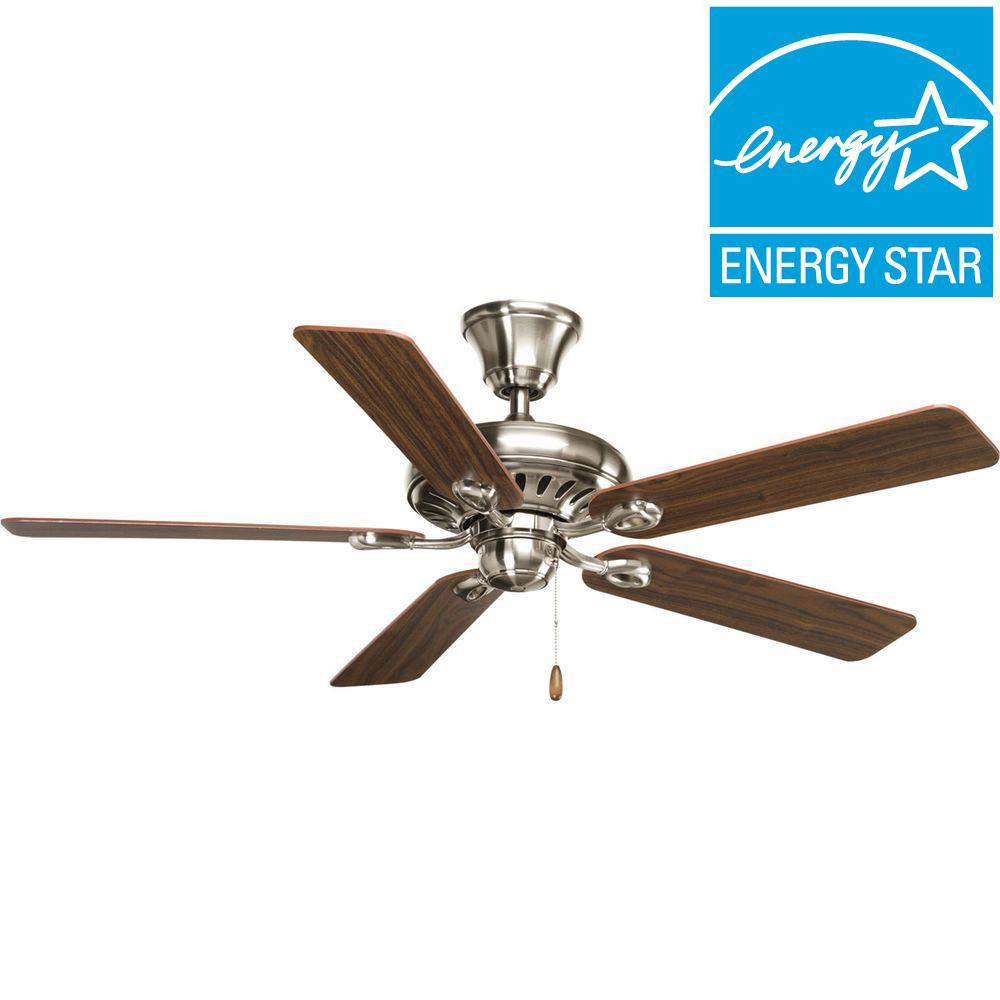 Signature Collection 52 in. Brushed Nickel Ceiling Fan