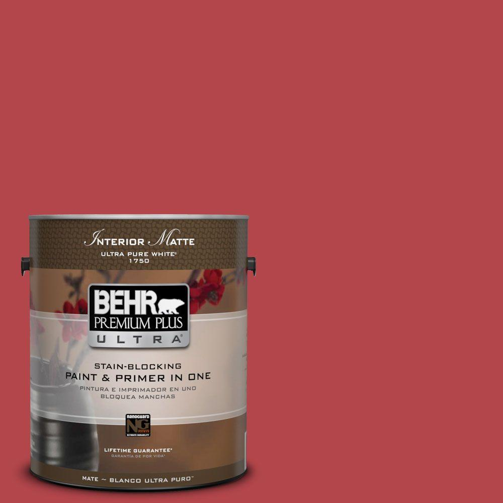 1 gal. #HDC-SM14-10 Intrigue Red Matte Interior Paint